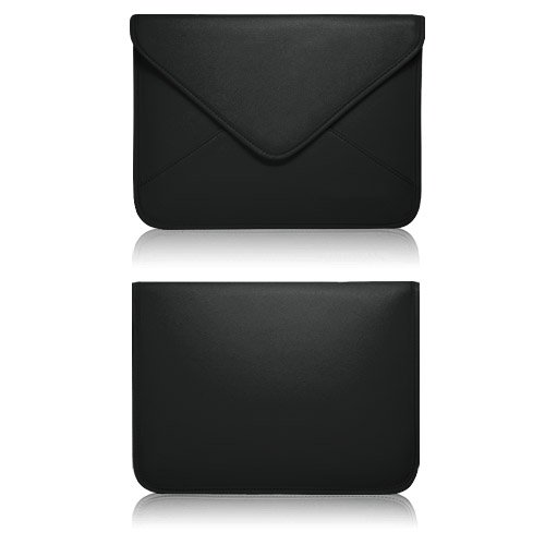 BoxWave Elite Leather Onyx International Boox M90 Messenger Pouch - Slim-Fit Synthetic Leather Carrying Case with Unique Envelope Sleeve Design - Onyx International Boox M90 Cases and Covers (Jet Black) from Electronic-Readers.com