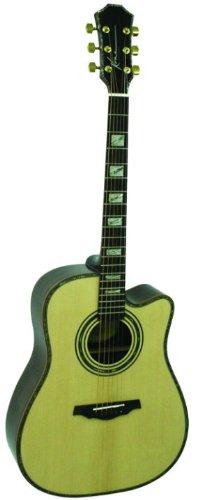 Kona Guitars Ka420 Artist Series Acoustic/Electric Guitar With New Zealand Paua Abalone Shell Inlay