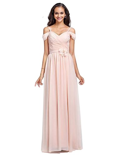 Light Pink Chiffon Short Sleeve Evening Dress For Women JH-CLF0117 (L-6)