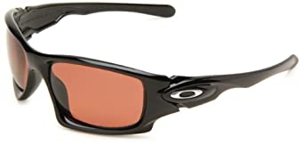 Oakley Mens Ten OO9128-11 Polarized Rectangle Sunglasses,Polished Black Frame/VR28 Lens,One Size