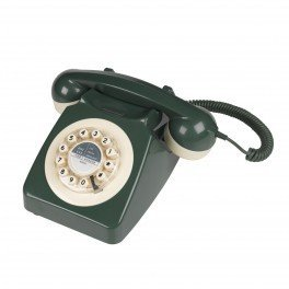 746 Nineteen Sixties Design Classic Retro Telephone - Green