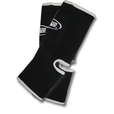 L BLACK DUO Muay Thai Kickboxing Ankle Support Anklets