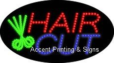 Hair Cut Flashing & Animated Led Sign (High Impact, Energy Efficient)