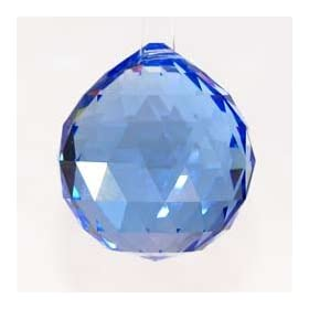 40MM VINTAGE CRYSTAL BLUE FENG SHUI BALL