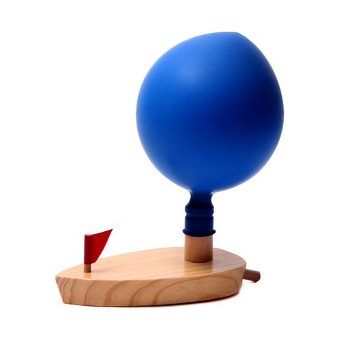 Games For Kids Balloon Powered Wooden Boat Bath Toys front-1027263
