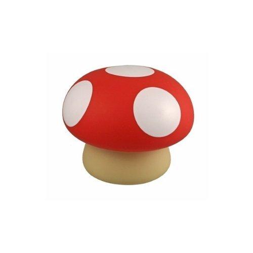 Streamline Mushroom Coin & Money Bank, Red Bank