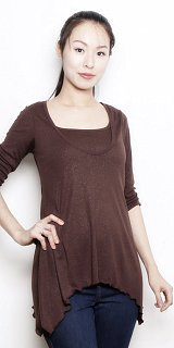 Zara Hankerchief Hem Top - nursing/maternity - XS-XL