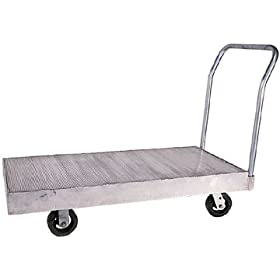 "Beacon Heavy Duty Extruded Aluminum Truck; Deck Size (WxL): 24"" x 48""; Platform Height: 13-1/2""; Caster Size: 8"" x 2""; Caster Type: Phenolic; Model# BEFHD-2448"