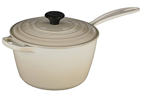 Le Creuset LS2518- 2068 Signature Cast Iron Sauce Pan, 3.25-Quart, Dune