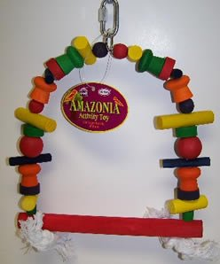 Cheap Vo-Toys Amazonia 10.5in Multicolored Wood Swing Bird Toy (814-75508)