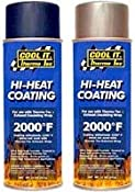 Amazon.com: Thermo-Tec 12001: Exhaust Wrap Coating, High-Temperature, Black, 11 oz. Spray Can, Each: Home Improvement