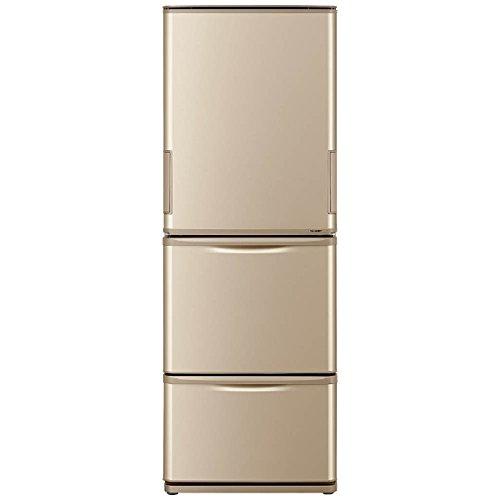シャープ 350L 3ドア冷蔵庫(ゴールド系)SHARP どっちもドア SJ-W352B-N