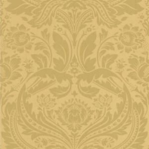 Graham + Brown Desire Mustard and Gold Wallpaper from New A-Brend