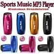 MusicMan TXX3537 Mini Sport Soundstation/Stereo Lautsprecher mit integriertem Akku (MP3 Player, Radio, Micro-SD Kartenslot, Kopfh�rer und Fahrradhalterung) pink