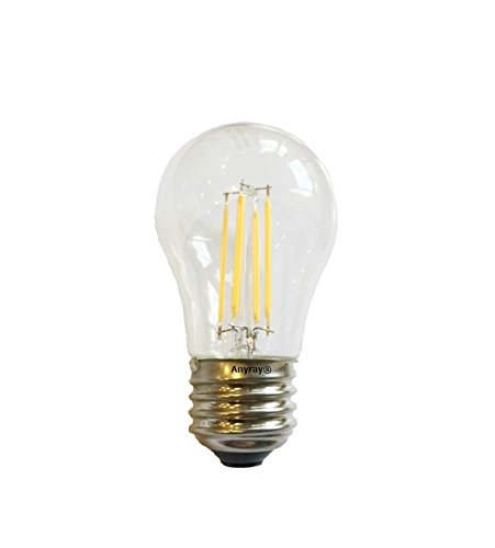 Anyray (1)-Bulb LED Filament A15 3.5W (25-Watts Equivalent) Appliance Freezer Refrigerator Light Bulb E26 120V (Philips 40w Appliance Bulb compare prices)