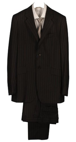 Paul Smith Single Breasted Stripe Suit - Black - 38