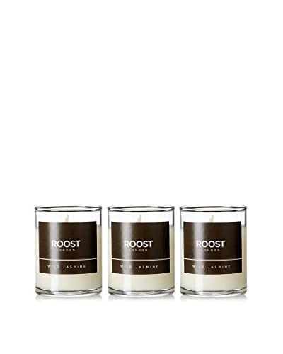 Bluewick Candles Set of 3 Wild Jasmine ROOST London Everyday Scented 3.2-Oz. Votive Candles