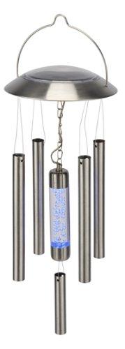 Solar Windspiel / Wind Spiel mit Solar Leuchte / LED, Edelstahl, H-70172
