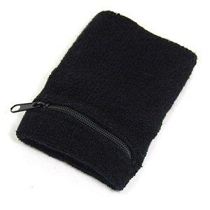 Buy COSMOS ® Black zipped zipper wallet cotton sports basketball tennis baseball yoga gym outdoor hiking biking war... by Cosmos