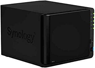 Synology DiskStation DS414 - Unidad de disco, NAS 4 bahías, 1GB RAM, dual LAN, USB 3.0, color negro