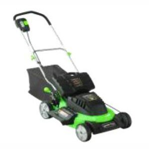 Steele Products SP-PM207DC 20-Inch 24 Volt Cordless Electric Lawn Mower With Grass Catcher picture