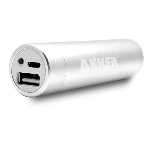 Anker Astro Mini 2600mAh Stylish External Battery Pack Charger for Apple: iPhone 5 4S 4 3GS, iPod; Most Android Phones: Motorola Triumph, Verizon Droid Razr, X2, Bionic / Samsung Galaxy Nexus, Galaxy S III I9300, Galaxy S II S2 I9100, Galaxy Nexus, Galaxy Note / HTC One X, One S, Sensation G14, ThunderBolt / LG Optimus / Nokia N9 Lumia 900 800; GoPro - Silver [Stylish Tiny & Light-weighted]