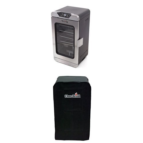 Char-Broil Deluxe Digital Electric Smoker, 725 Square Inch + Cover (Insulated Cover For Smoker compare prices)