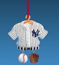 MLB New York Yankees Baseball Jersey Christmas Ornament 4""