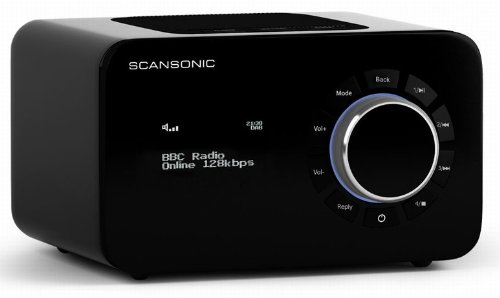 scansonic sc r4b radio wifi fm noir radio radio r veil. Black Bedroom Furniture Sets. Home Design Ideas