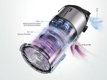 Samsung VU12F70SHBC Motion Sync Bagless Upright Vacuum