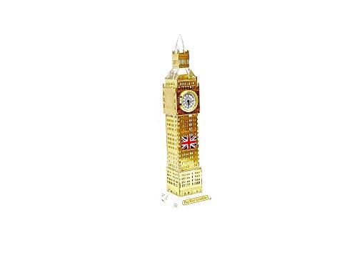 Ornament Londra Big Ben Tower Souvenir, regalo di natale in metallo oro 18cm by gr8vape
