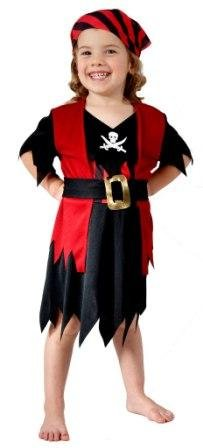 Girls Toddler Pirate Fancy Dress Costume