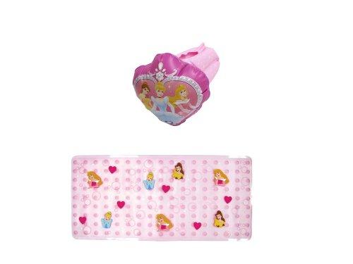 Disney Bathtub Mat and Inflatable Faucet Cover, Princess