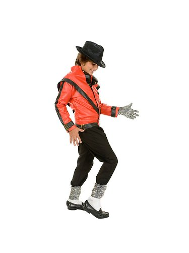 Michael Jackson Costume, Child's Deluxe Red Thriller Jacket Costume