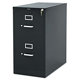 310 Series 26-1/2 inch Deep Full-Suspension File, Two-Drawer, Letter, Charcoal (HON312PS)