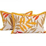Swayam Drape And Dream Cotton 2 Piece Pillow Cover Set - Yellow (PC02-5904)