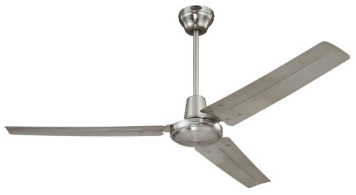 Images for Westinghouse 7861400 Industrial 56-Inch Three-Blade Ceiling Fan with Ball Hanger Installation System, Brushed Nickel