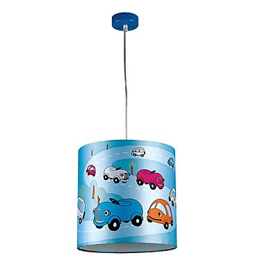 1 Lght Lovely Pendant Light With Colorful Cars On The Lamp front-845680