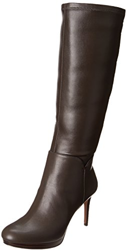 Nine West Women'S Enuck Riding Boot Boot,Dark Brown,7.5 M Us