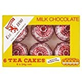 TUNNOCKS Tea Cakes - Real Milk Chocolate 6 x 24g Box