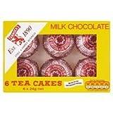 TUNNOCK'S Tea Cakes - Real Milk Chocolate 6 x 24g Box