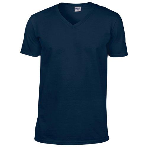 Gildan Soft Style T-Schirt für Männer (M) (Marineblau)