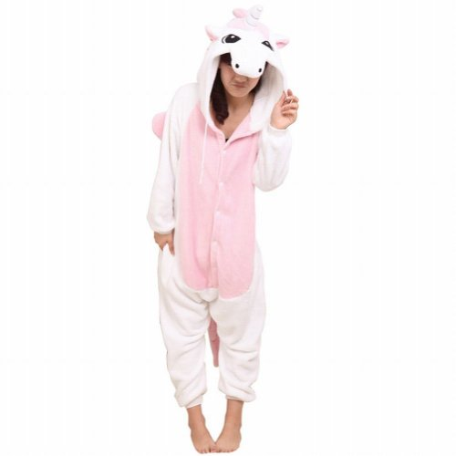 Ferrand Kigurumi Pajamas Unisex Adult Cosplay Costume Animal Pyjamas Pink Unicorn M