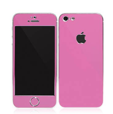 Iphone 4/4S Aluminium Protective Sticker Skin Full Body Matte (Included Anti Finger Anti Glare Screen Protector Guard Film - 2 Pack) For Luxury Looks Diamond Cutting(Pink)