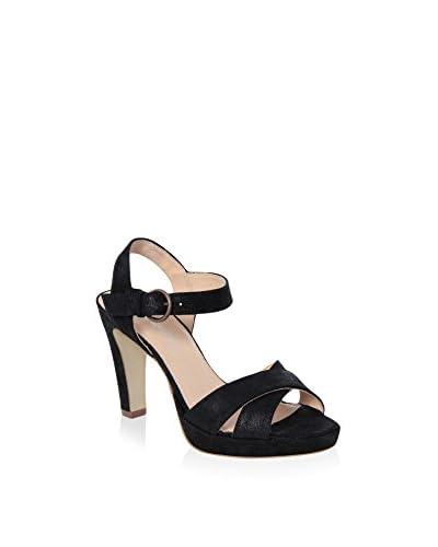 GIANNI GREGORI Sandalo Con Tacco [Nero]