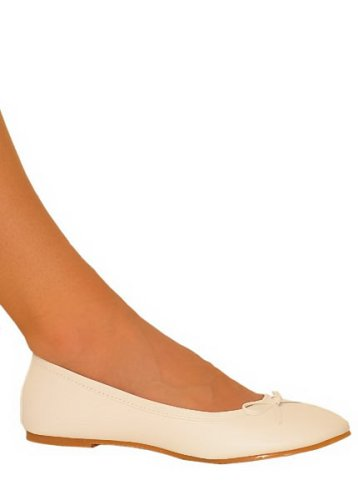 Cheap Prima White – Ballerina-style Flats – CLOSEOUT (B000F4W5VS)