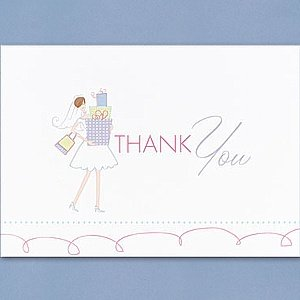 Bridal Shower Gifts Thank You Cards (25 cards