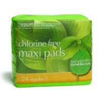 Seventh Generation Maxi Pads, Regular, 24 ct, 2 pk