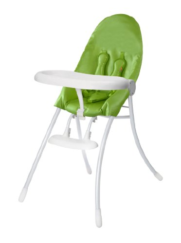 Bloom Nano Urban Highchair, Matte White/Gala Green - 1