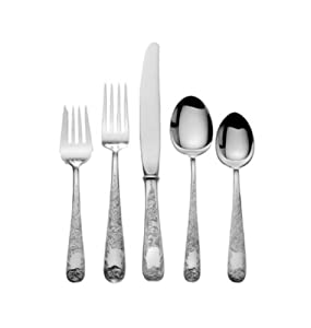 Kirk Stieff Old Maryland Engraved 46-Piece Sterling Silver Flatware Dinner Set, Service for 8
